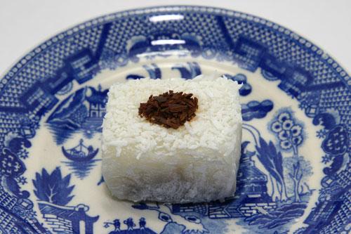 Chocolate Haupia Mochi